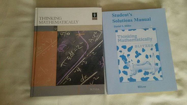 Thinking Mathematically Blitzer Textbook & Solution Manual Ivy Tech Student #Textbook