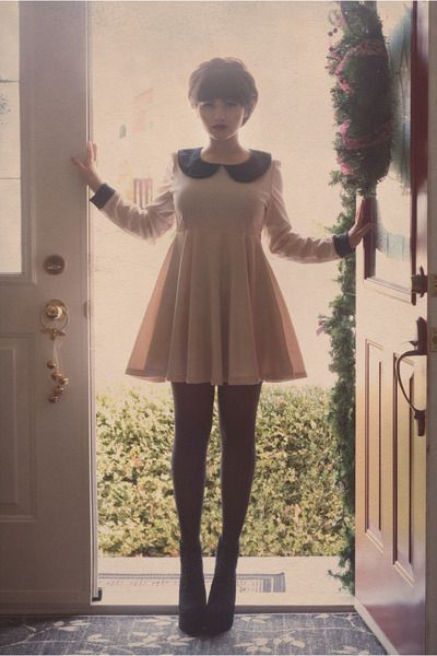 Pretty much any baby doll dress with tights and heels would look amazing. Channeling Zooey Deschanel.