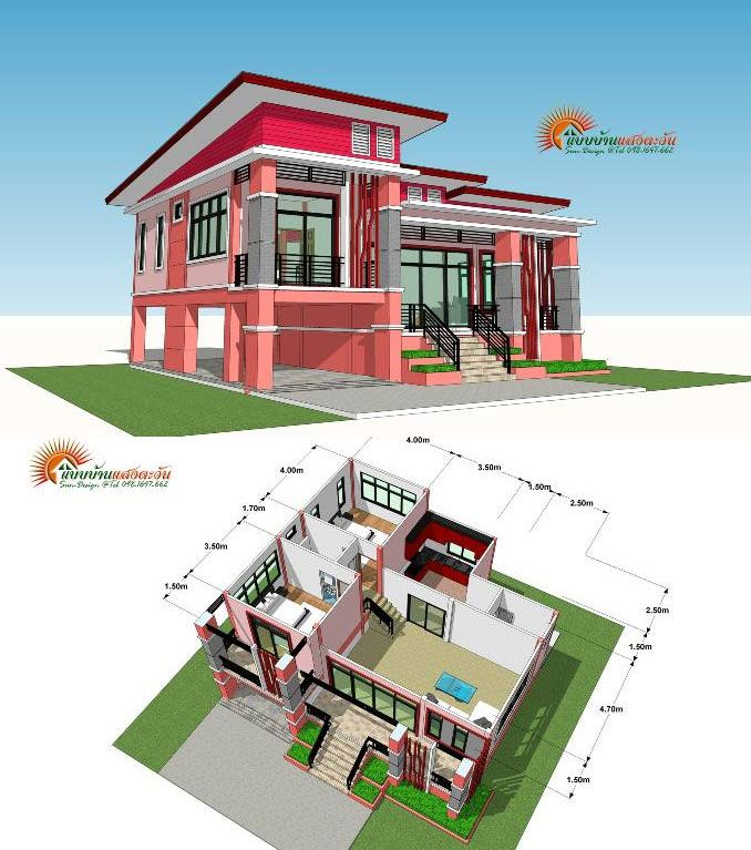 Modern Elevated Two Bedroom One Storey House Ulric Home One Storey House Two Story House Design One Bedroom House Plans