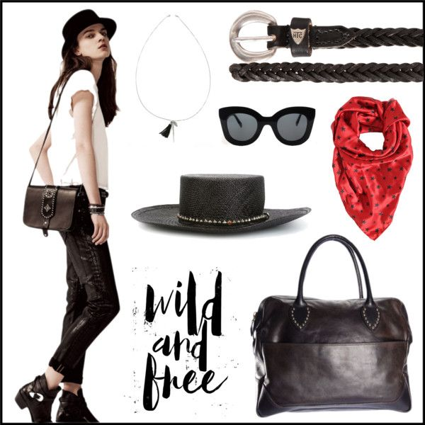 Wild&Free by htc-los-angeles on Polyvore featuring moda, Chan Luu, Hollywood Trading Company and CÉLINE