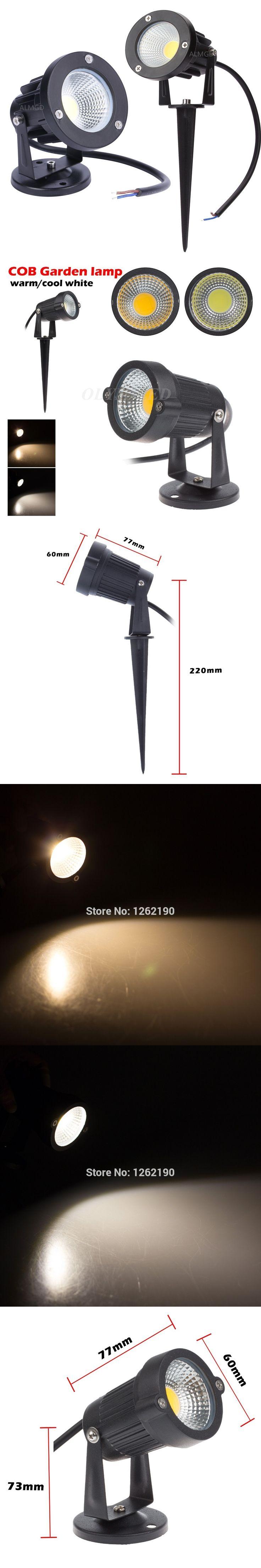New Style COB Garden Lawn Lamp Light 220V 110V 12V Outdoor LED Spike Light  3W 5W