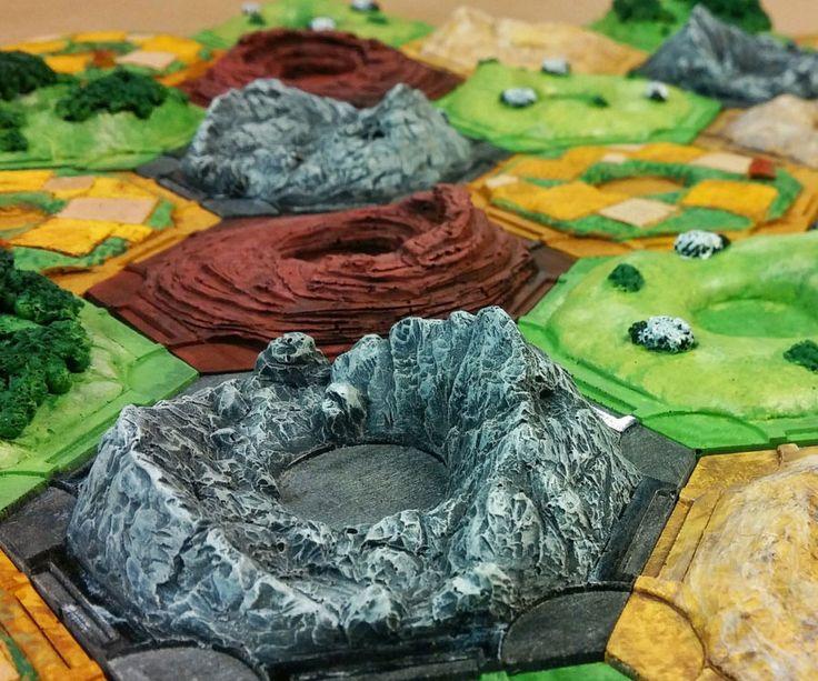 3D Settlers Of Catan Resource Tiles