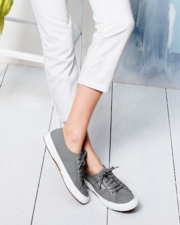superga cotu classics in gray. I think I want some of these...gray or maybe a fun color? Cobalt blue?