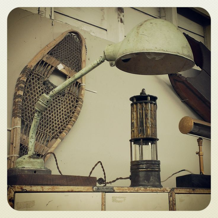 Antique Industrial Articulated Lamp ~ #antique #lighting #lamp #industrial #home #office #decor *JoJo's Place www.jojosplace.com