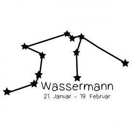 Sternbild Wassermann Wandtattoo