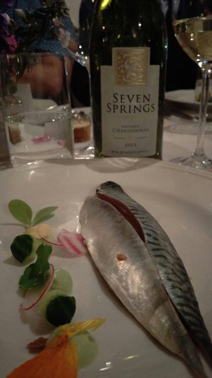 Mackerel paired superbly with our unoaked chardonnay