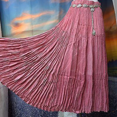 Vintage-SA-ROSE-160-Sweep-Western-Broomstick-Skirt-Rose-Pink-Waists-Under-40 $44.99