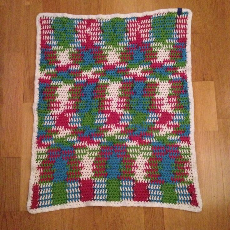 Colourfull babyblanket for my sisters baby.