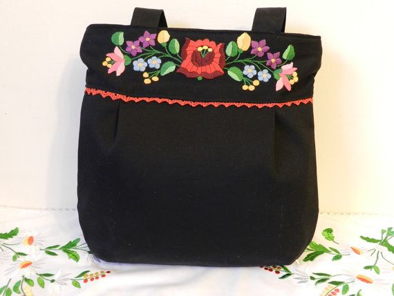 Hungarian bag kalocsai embroidery Hand made by Hungarianhouse