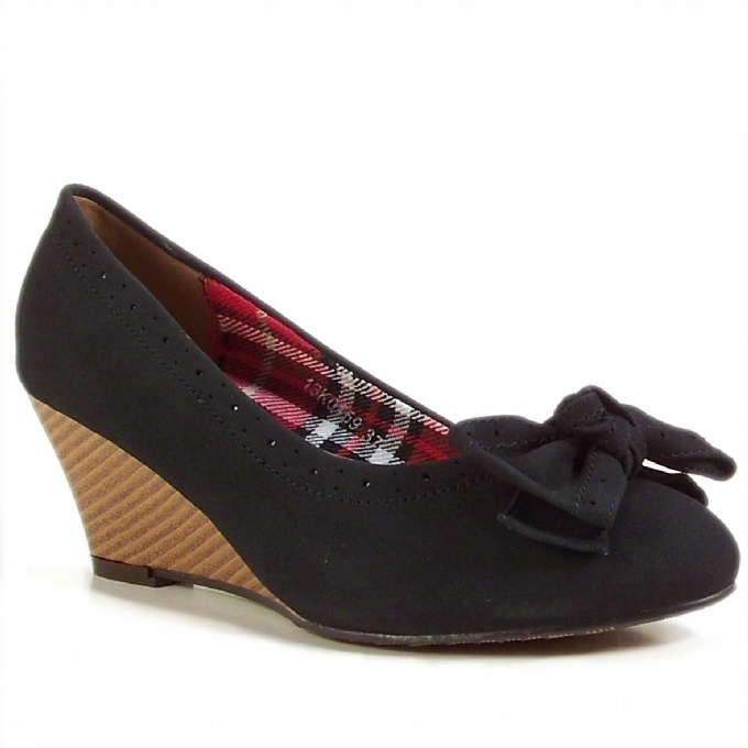Dolgu Topuk | Siyah Dolgu Topuk Ayakkabı |