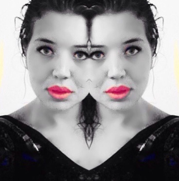 Dark haired days. Playing around with photoshop. Mystique X 2