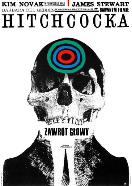 """Roman Cieslewicz  """"ZAWROT GLOWY"""", 1963  """"Vertigo"""" 1958 / Hitchcock"""