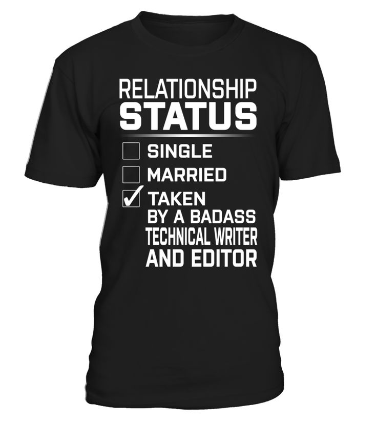 Technical Writer And Editor - Relationship Status