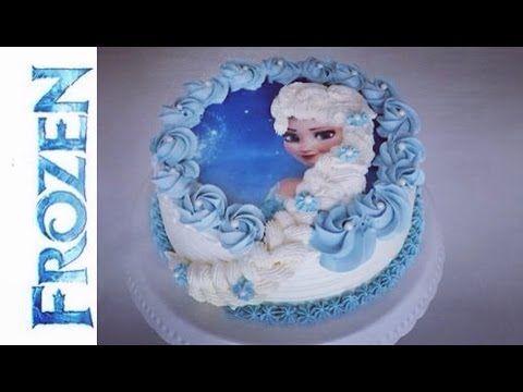 Frozen Torte   Elsa die Eiskönigin Torte   Frozen Birthday Cake