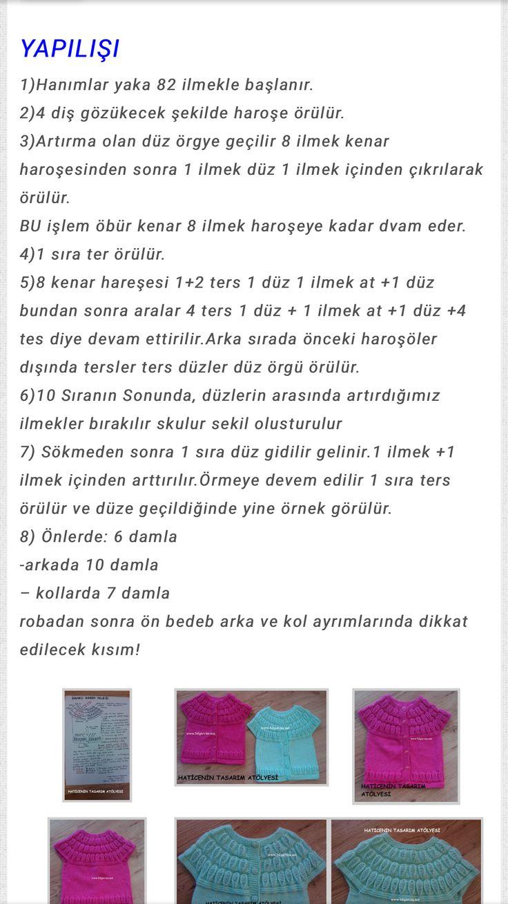 690 best Şiş örgüsü images on Pinterest | Patrones de punto, Tejido ...
