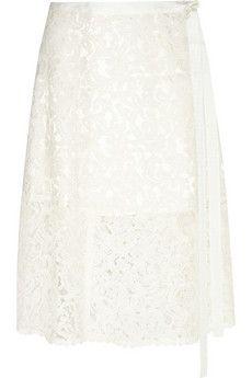 Sacai Sacai Luck lace wrap skirt | NET-A-PORTER
