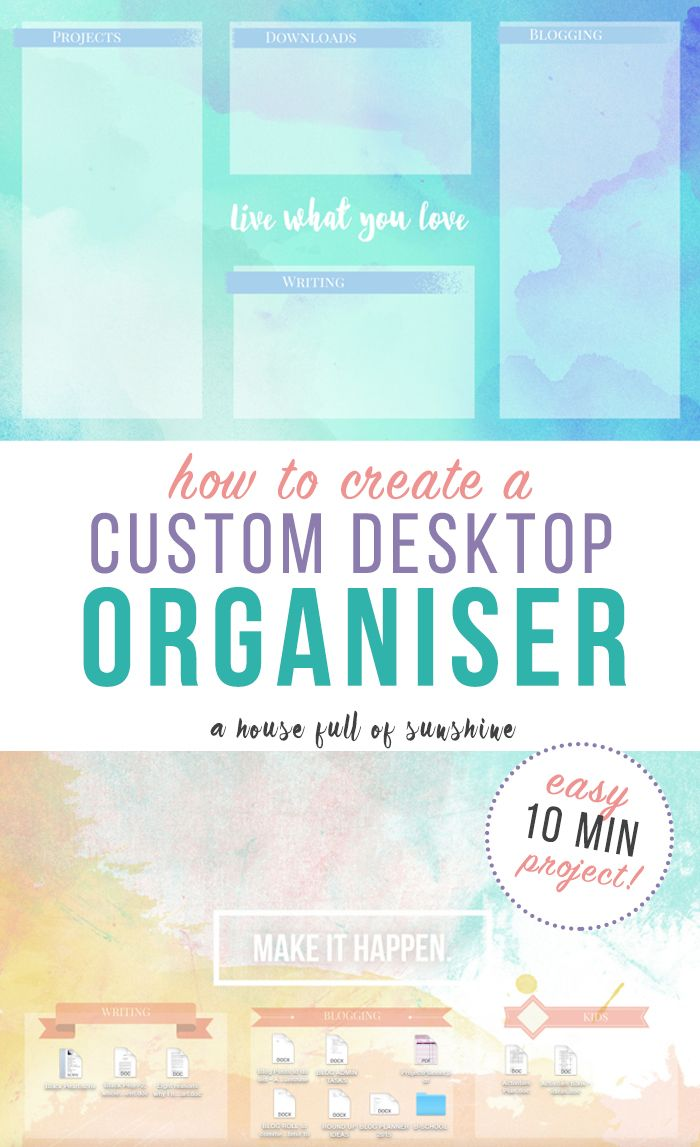 If you always end up with a messy clutter of icons on your computer desktop, today's solution is for you! An easy 10-minute project to organise your desktop once and for all.