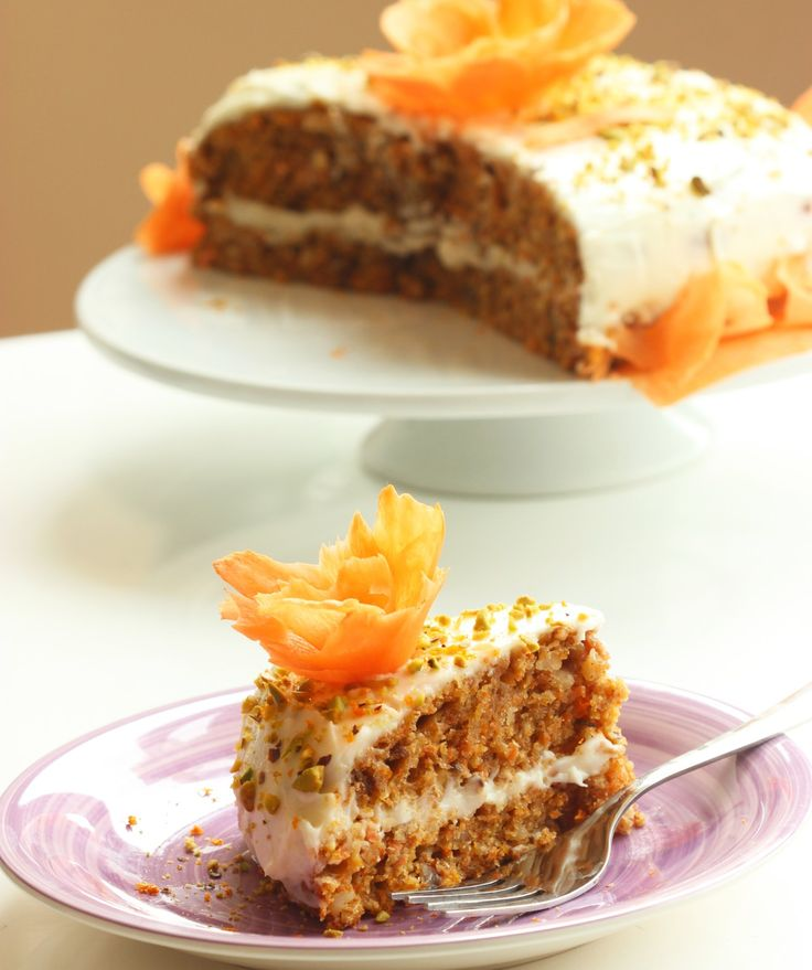 american easy carrot cake with orange mascarpone cream - recipe by the petite cook