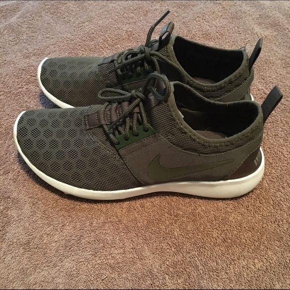 {Nike} HP olive women's juvenate Beautiful nikes that have been worn ONCE. They are flawless and olive green! Feel free to send me some offers :) Nike Shoes Athletic Shoes