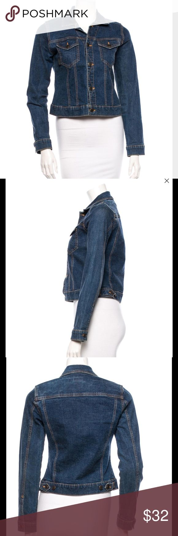 Anna Sui denim jacket Gently used  and washed several times,no stain no flaw ,the size tag was taken off,The size is 2 Anthropologie Jackets & Coats Jean Jackets