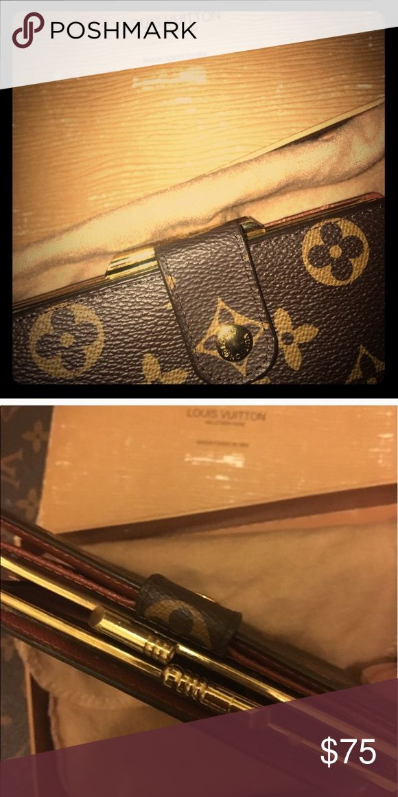 Lv Monogram Vintage wallet with Gold clasp Comes with its dust bag and box. Please refer to pictures for any other specific descriptions. No I only hv one wallet the other post had an error Louis Vuitton Bags Clutches & Wristlets