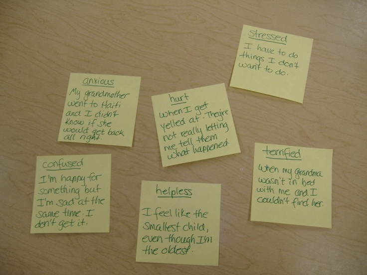 Post-it Note Counseling technique. Helps students who are reluctant to talk about their feelings open up and feel a greater sense of control.