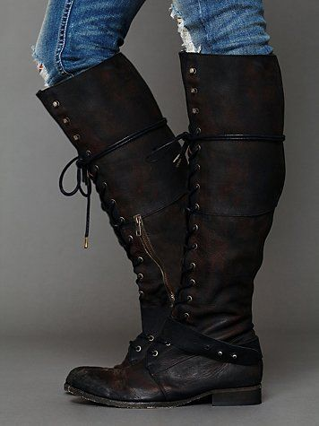Ever try pairing these with a maxi dress? Landmark Lace Boot. http://www.freepeople.com/free-people-collection/landmark-lace-boot/