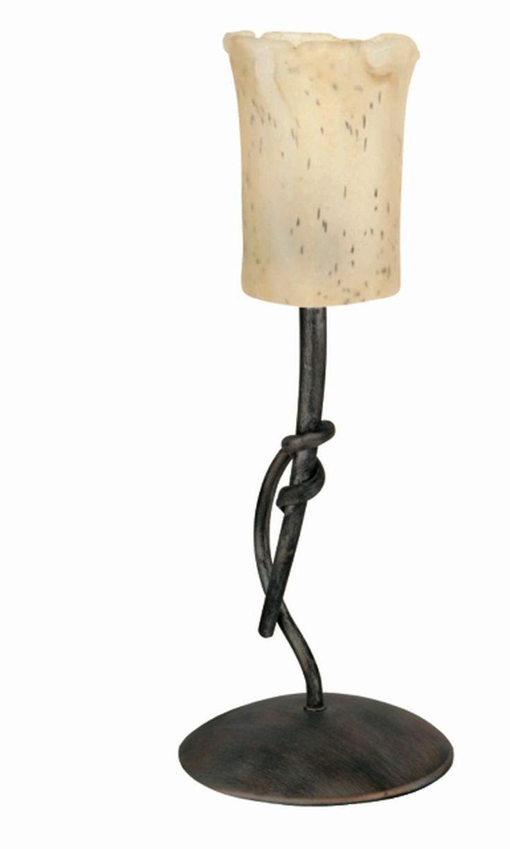 Lámpara de Mesa rústica estilo forja #lamparas #iluminacion #interiorismo #decoracion #hogar #luminarias #diseño #iluminable