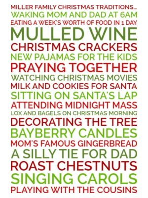 Generate a personalized poster Christmas gift