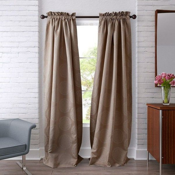 Heritage Landing 2 Pack Woven Lace Curtains ($66) ❤ Liked On Polyvore  Featuring