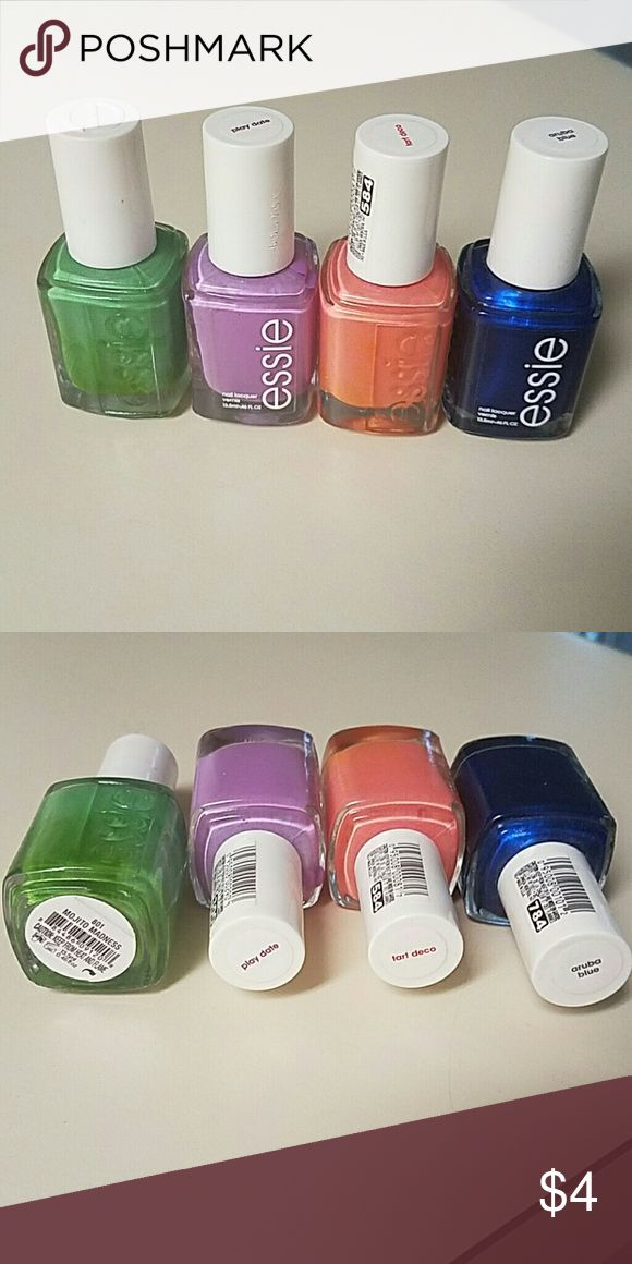 Essie Full Size Nail Polishes Used once or twice at most.  Price is $5 for each, $9 for two, or $12 for three  Fast shipping!! Bundle discounts Makeup