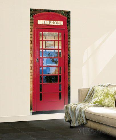 London Telephone Box Giant Mural Poster Wallpaper Mural at AllPosters.com