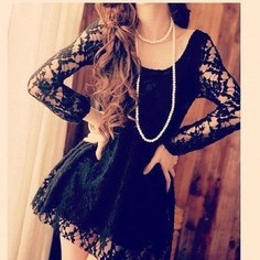 Would wear this in a heart beat!Classy, Fashion, Black Long Sleeve Lace Dresses, Style, Black Dresses, Closets, Clothing, Beautiful Dresses3, Black Lace Dresses