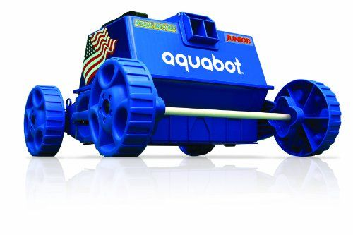 """Aquabot Pool Rover automatic pool cleaner is programmed to methodically clean any size in-ground pool or above-ground pool in less than 3 hours.This completely automatic pool cleaner can clean pools up to 18′ x 36′ and comes with a 40′ cord with floating buoys."""