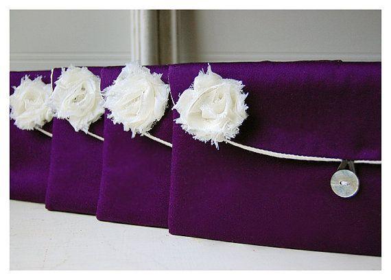 purple satin clutch bridesmaid gift clutch satin purse by hoganfe
