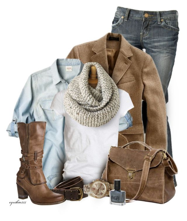 """""""Layer it Up"""" by cynthia335 ❤ liked on Polyvore featuring Miso, RRL, AllSaints, American Eagle Outfitters, MUSTANG, Maison d'usQ and RGB"""