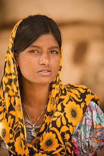 Mujer en Rajastan
