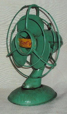 Vintage Wind Up Baby Fan Tin Toy Patent No 20092 Japan