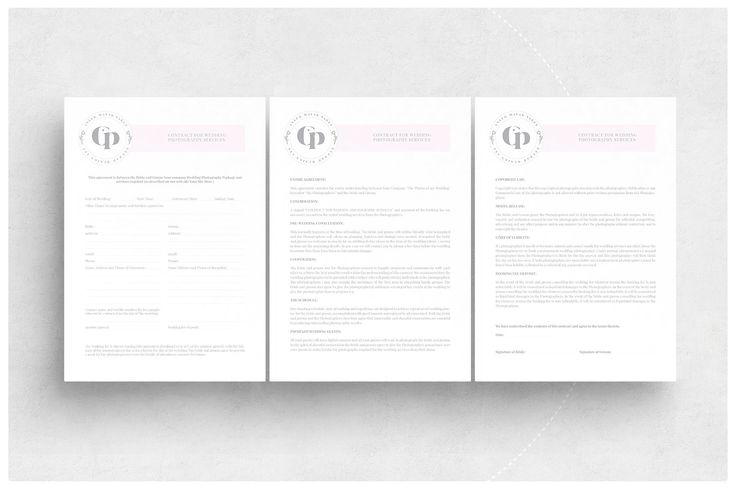 Client Contract \/ Booking Form-V280 by @Graphicsauthor Templates - client information form template