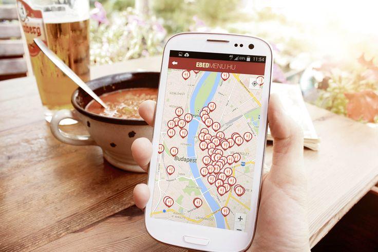 Azonnal megtudhatod a környékbeli éttermek menü kínálatát az ingyenes Ebédmenü okostelefon alkalmazásban!