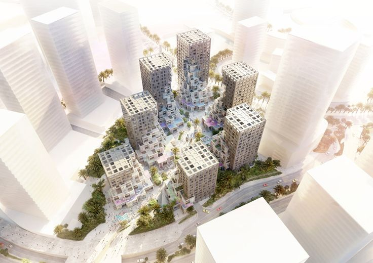 mvrdv pixel makers district uae designboom