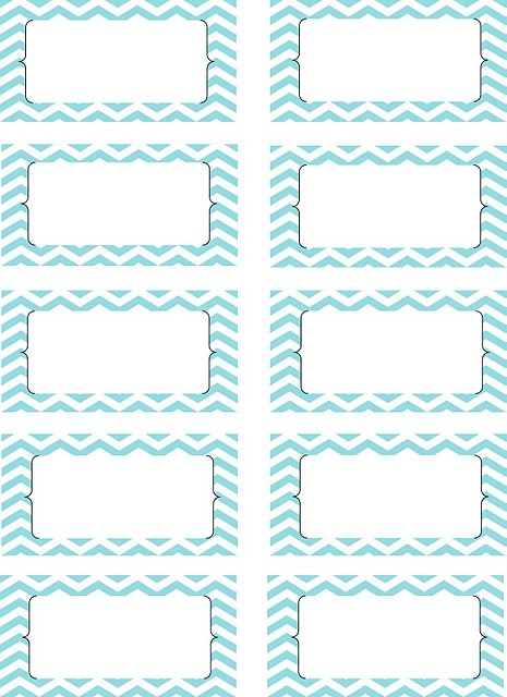 Free printable chevron labels