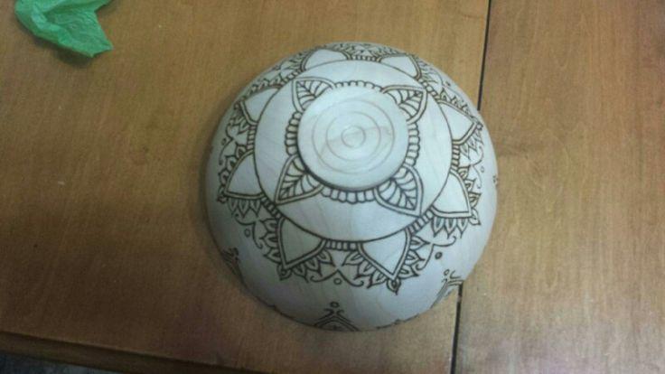 Floral design bowl