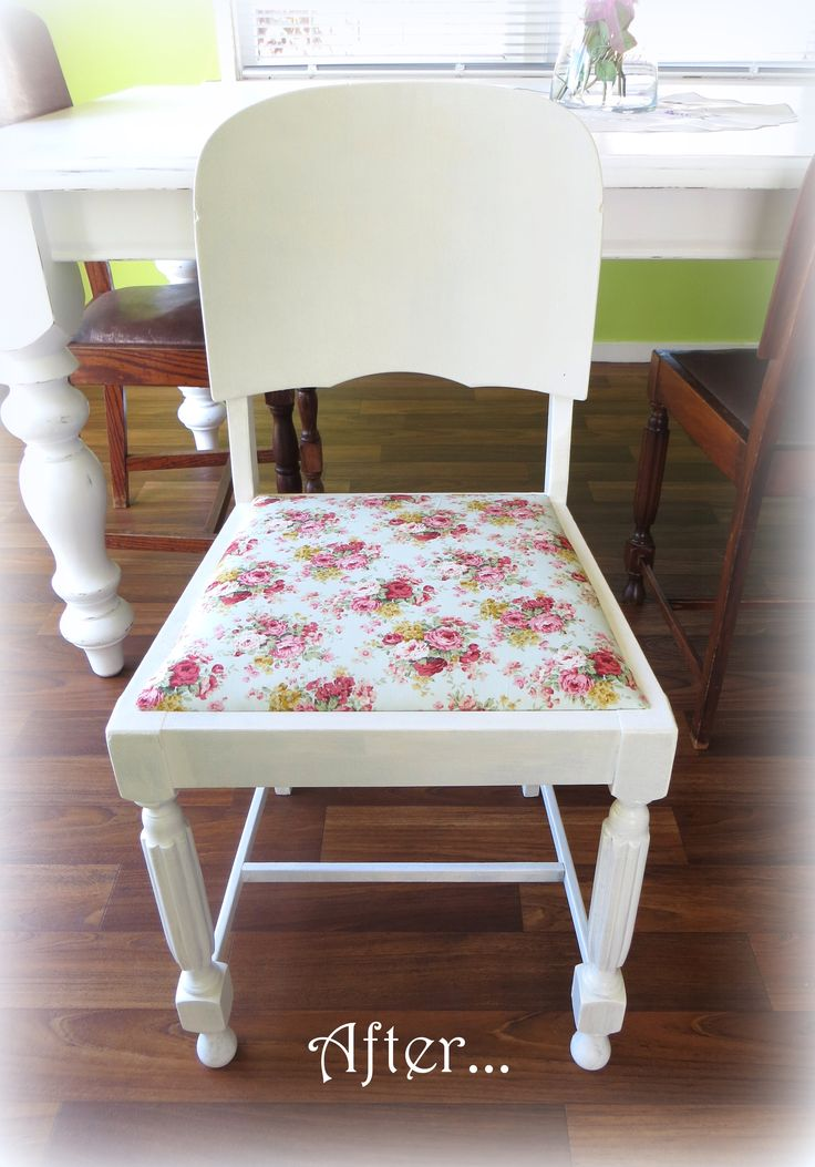 Recycled dining chair at www.roseandsunday.co.nz