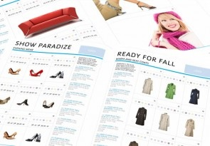Clothing grid catalog