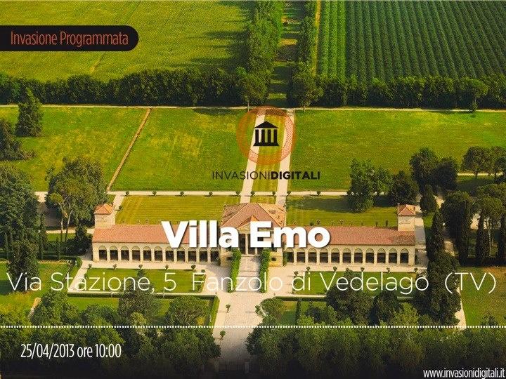 Appuntamento giovedì 25 Aprile alle ore 10.00 per l'invasione di Villa Emo #InvasioniDigitali