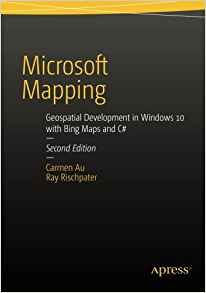 This 200 page revised edition of Microsoft Mapping includes the latest details about SQL Server 2014 and the new 3D and Streetside-capable map control for Windows 10 applications. It contains updated chapters on Microsoft Azure and Power Map for Excel plus a new chapter on Bing Maps for Universal Windows. The book tells a story, from beginning to end, of planning and deploying a single geospatial application built using Microsoft technologies from end-to-end.