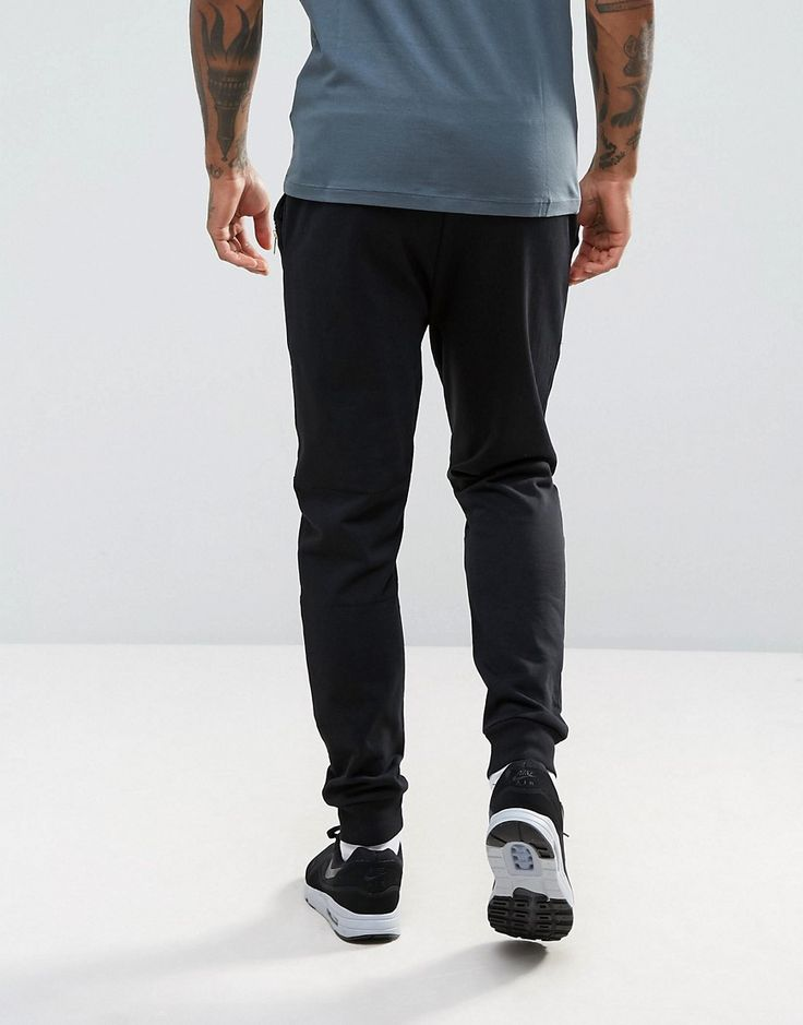 ASOS Super Skinny Joggers With Gold Zips In Black - Black