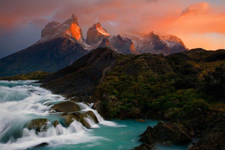 The mountains of the Cordillera del Paine, Chile