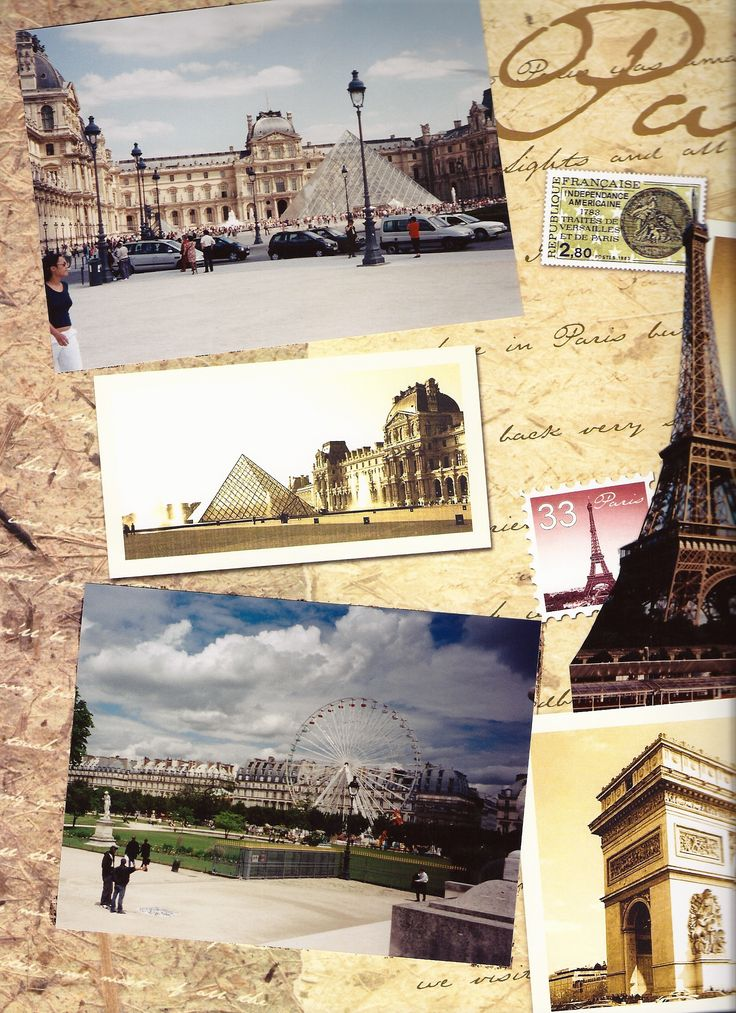 page from my Paris scrapbook